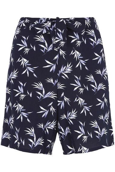 Belted Viscose Shorts