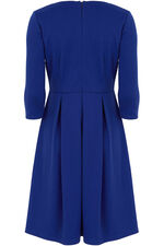 Blue Fit and Flare Dress