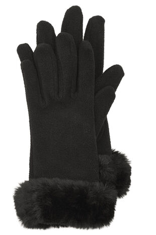 Fur Trimmed Fleece Glove
