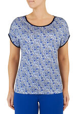 Summer Floral Basketweave T-Shirt