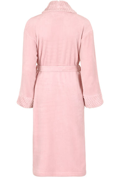 Honeycomb Cuff Collar Robe