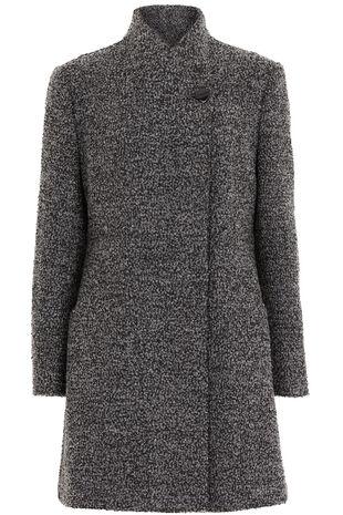 Textured Charcoal Coat