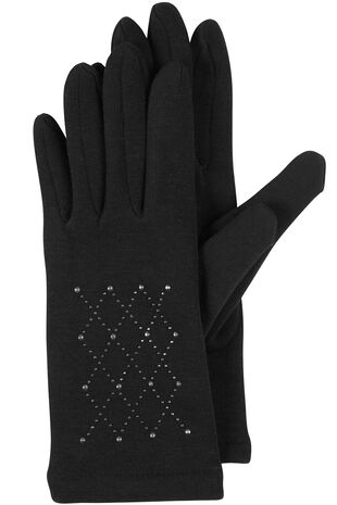 Diamante Detail Gloves