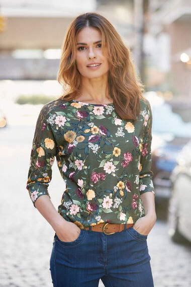 Winter Floral Lace T-Shirt