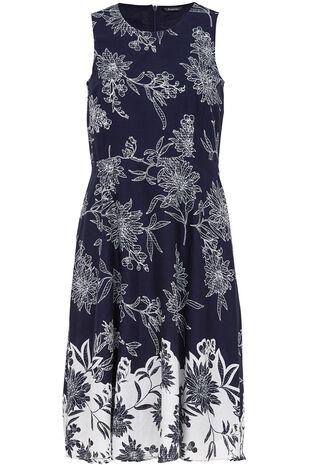 Cotton Boarder Print Dress