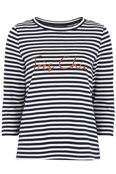 Stripe Sweat Top