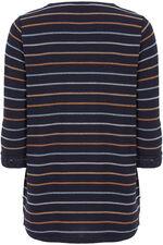Striped Lace Trim Top
