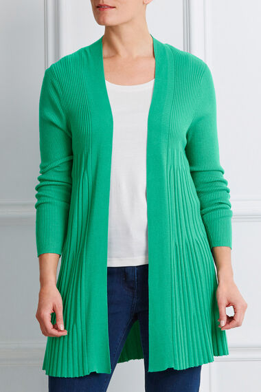 Fan Rib Edge To Edge Cardigan