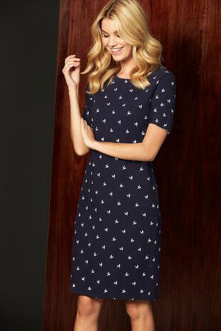 Printed Textured Tunic Dress