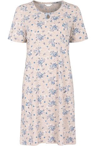 Oatmeal Blue Floral Nightdress