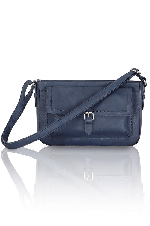 Buckle Detail Cross Body Bag