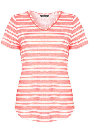 Lace Insert Stripe T-Shirt