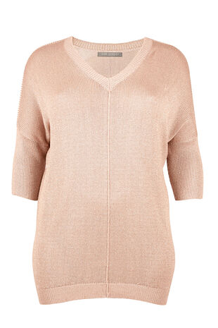 Ann Harvey Metallic V Neck Sweater