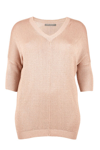 Ann Harvey Metallic V Neck Sweater