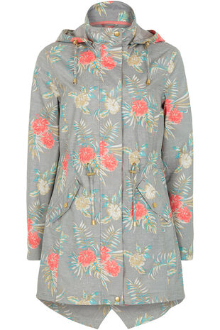 Floral Print Waterproof Mac