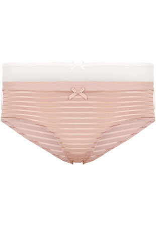 Dorina Two Pack Stripe and Plain Hipster Briefs