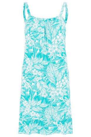 Floral Print Strappy Frill Hem Sundress