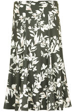 Printed Ponte Skirt