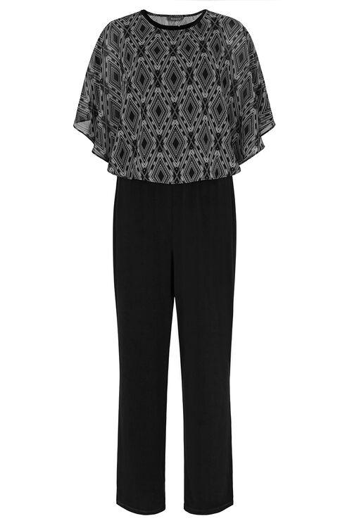 Kimono Sleeve Printed Jumpsuit