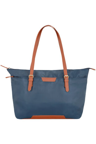 Tan Trim Shopper Bag
