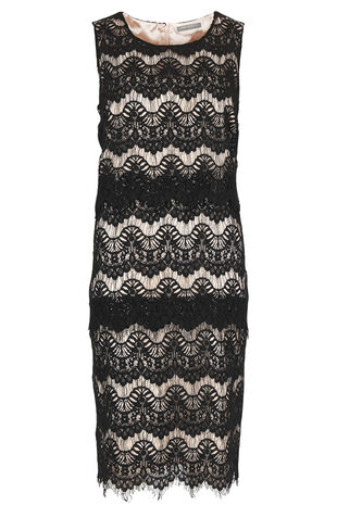 Ann Harvey Tiered Lace Dress