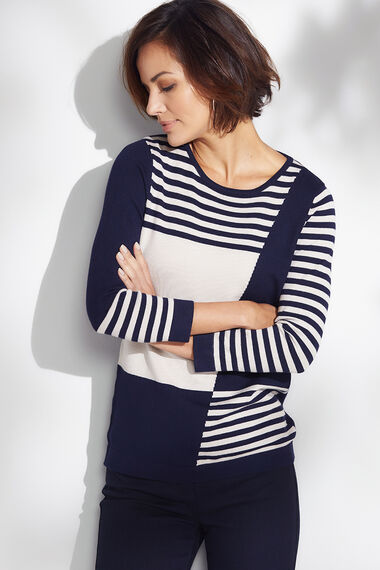 Colour Block and Stripe Jumper