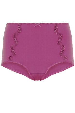 Pink Guipure Lace Trim Brief