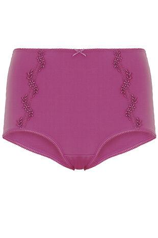 Pink Guipure Lace Trim Brief