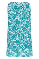 Printed Tie Detail Jersey Vest