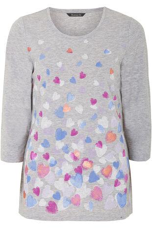 Trailing Hearts Print T-Shirt