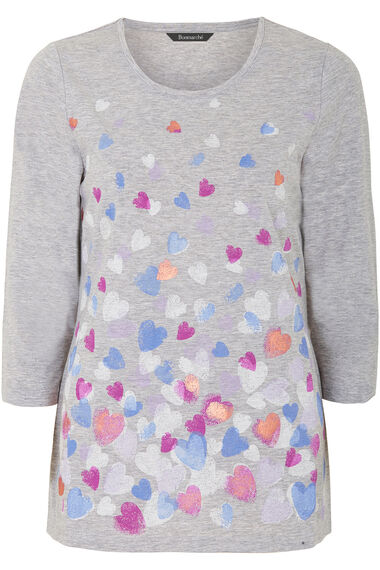 Trailing Hearts Print T-Shirt