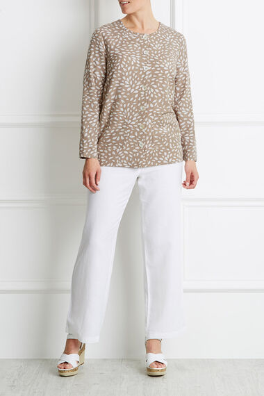 Ann Harvey Contrast Print Linen Mix Jacket