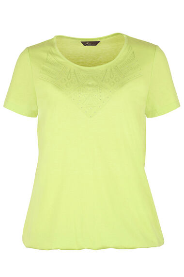 Lace Bib Detail T-Shirt