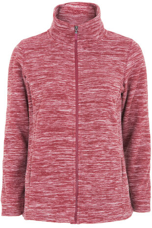 Zip Thru Marl Fleece