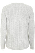 Cable Curved Hem Jumper
