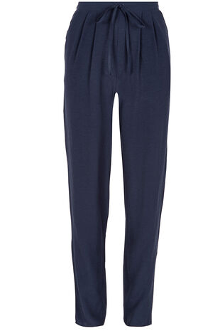 Plain Crepe Harem Trousers