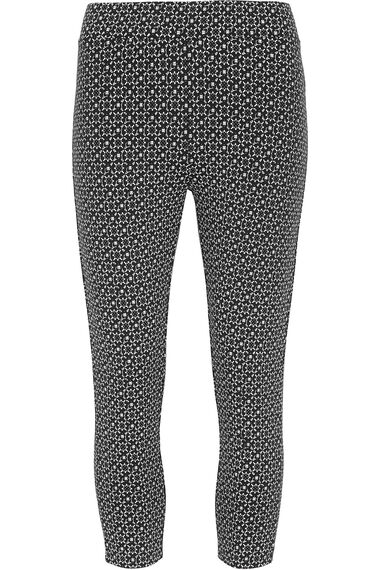 Tile Print Crop Legging