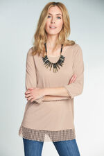 Lace Trim Jersey Top
