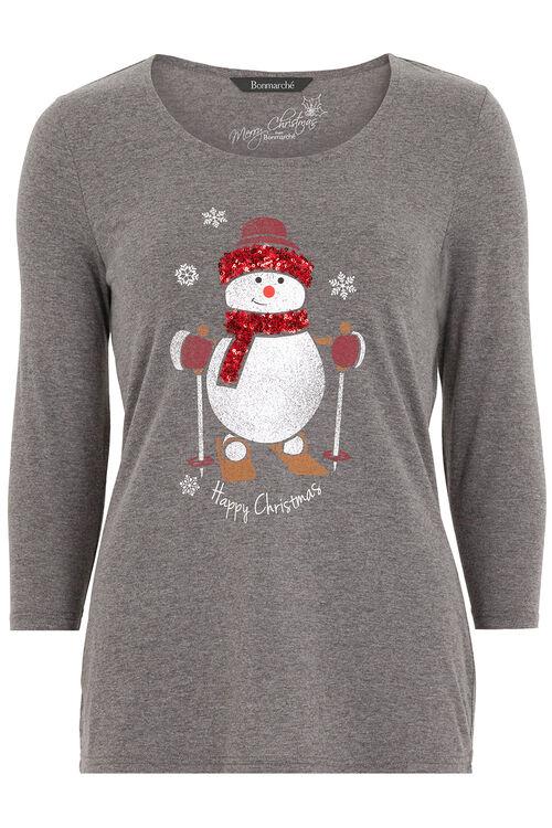 Sequin Snowman T-Shirt
