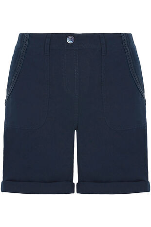Lace Trim Cargo Shorts