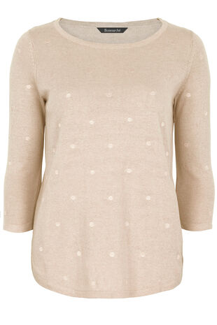 Spot Embroidered  Cotton Mix Jumper