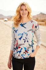 Stella Morgan Bird Print Soft Touch Sweater