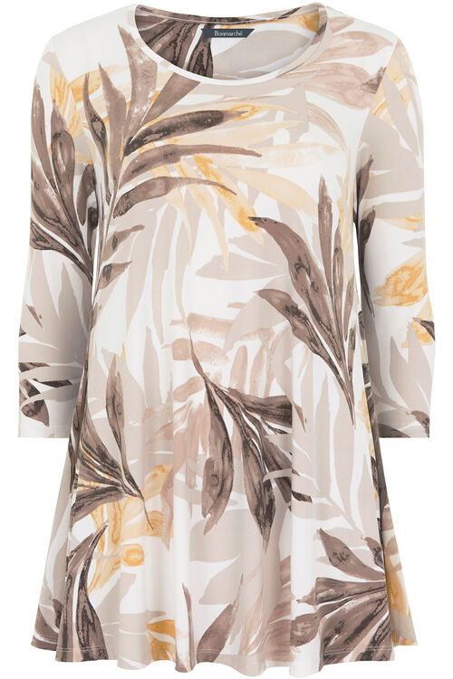 Ann Harvey Printed Palms Top