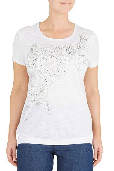 Diamante Swirl Placement T-Shirt