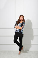 David Emanuel Double Layer Butterfly Blouse With Necklace
