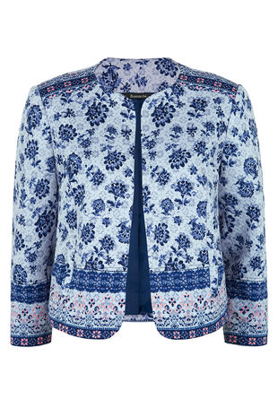 Quilted Border Print Jacket