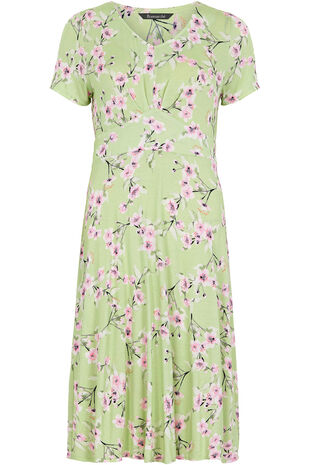 Oriental Blossom Tea Dress