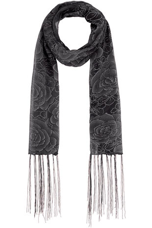 Glitter Scarf with Tassel
