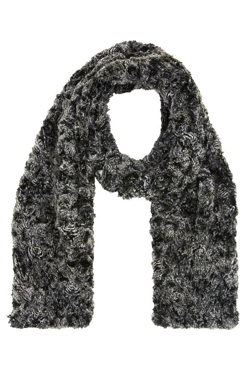Faux Fur Textured Snuggle Scarf