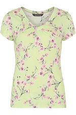 Oriental Floral Print V-Neck Top